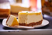 Lemon curd cheesecake (close-up)