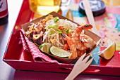 Pad Thai with prawns (Thailand)