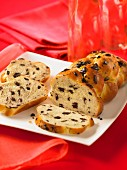 Chocolate chip challah bread