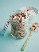Coconut and buckwheat granola with puffed quinoa