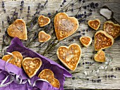 Heart Shaped Lavender Welshcakes