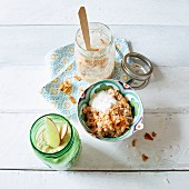 Apple pie muesli and carrot pie muesli