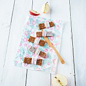Take-away coconut and apple bars