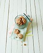 Muesli biscuits with raisins and almonds
