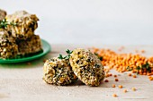 Spinach balls with red lentils, Italy, Europe