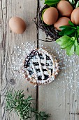 Easter blueberry tart, Italy