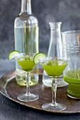 Matcha Cucumber Spritzertini Winetail cocktail