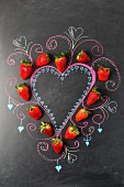 Erdbeerherz und Tafelmalerei