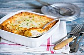 Ham and potato souffle with ham