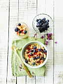 Millet porridge with fruit