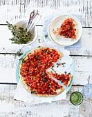 Tomatentarte mit Thymian