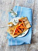 Sweet potato fries with aioli
