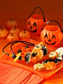 Halloween cookie and candy necklace