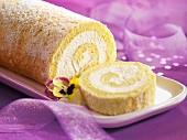 Biskuitrolle mit Dulce de Leche Creme
