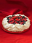 Whole berry pavlova