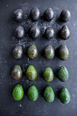 The ripening process of avocados