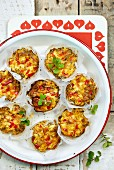 Mini-Frittatas im Backpapier