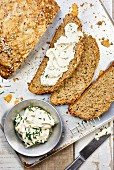 Soda bread with a chive dip