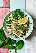 Tabouleh with fresh mint, parsley and lemon