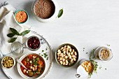 Ingredients for one-pot wonders with pulses