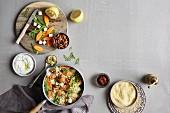 Zutaten für One Pot Wonder mit Quinoa, Hirse & Co