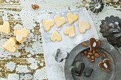 Heart-shaped Christmas biscuits