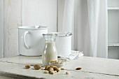 Vegan milk, almond milk