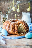 Easter cake (Babka) with a nut filling