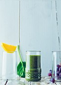 Grape and spinach drink with coconut water
