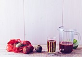 Beetroot super juice with apples and carrots