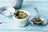 Green olive tapenade with capers