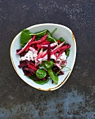 Beetroot and spinach salad (Lebanon)