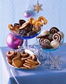 Selection of various Christmas Cookies