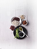 Protein-rich beans - various different types