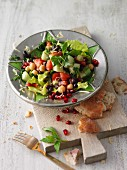 Fattoush - azuki bean salad with chickpeas from Arabia