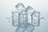 Several ice cubes