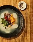 Tteokguk (sliced rice cake soup, Korea)