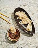Yachae Mandu (Teigtaschen vegetarisch, Korea)