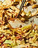 Yangbaechu kimchi (white cabbage kimchi, Korea)
