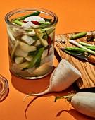 Dongchimi (radish, water and kimchi, Korea)