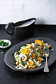 Gemüsespaghetti mit Pilz-Sahne-Sauce