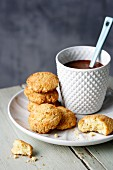 Almond and coconut biscuits with birch sugar
