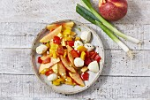 Nectarine salad with mozzarella