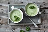 Frothy kohlrabi soup