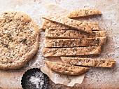 Herb flatbread with sea salt