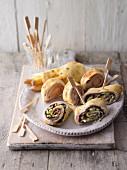 Stuffed pancake rolls