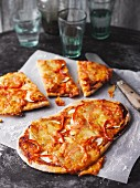 Vegetarian flatbread pizzas
