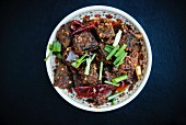 Yaksha Shakam (dried oxen with spicy chilli, Bhutan)