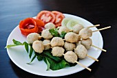 Thai shrimp ball skewers