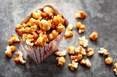 Hausgemachtes Karamell-Popcorn